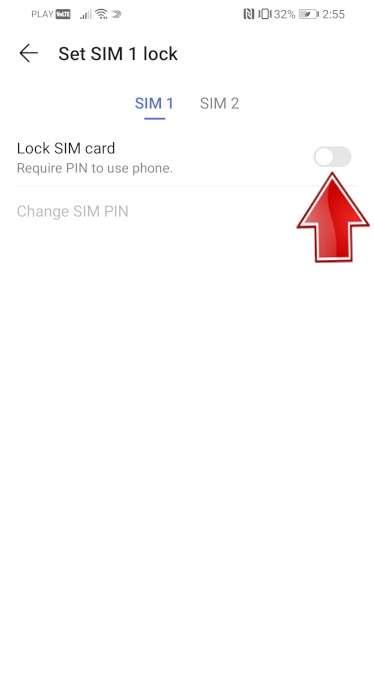 PIN-код блокировки SIM-карты SAMSUNG Galaxy S10e